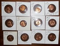 LOT OF 12 BU LINCOLN WHEAT CENTS IN 2 X 2'S 1946 D 1957 D 1958 AND 1958 D