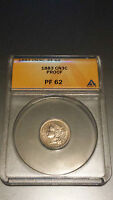 1883 THREE CENT NICKEL ANACS CERTIFIED PR62 BEAUTIFUL A MUST SEE 6K BSBC