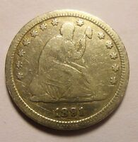 1891 SEATED QUARTER LAST YEAR ISSUE NICE