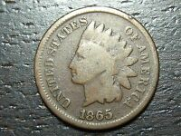 1865 INDIAN HEAD CENT PENNY  -  MAKE US AN OFFER  O8661