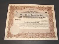 EARLY 1900 IDAHO THEATRE ENTERPRISES INC ORIGINAL NEW STOCK CERTIFICATE VINTAGE