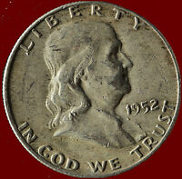 1952 D FRANKLIN 90 SILVER HALF DOLLAR SHIPS FREE. BUY 5 FOR $2 OFF.