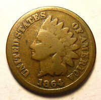 1864 L INDIAN CENT DOUBLE DATE BREEN 1962   R1