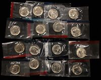 1980 1981 1984 1989 PD US ROOSEVELT DIMES BU MINT CELLO RUN DECADE SET 16 COINS
