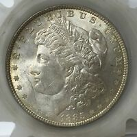 1885 P MORGAN SILVER DOLLAR WITH TONING  A2792