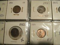 LINCOLN CENT  1949 1959  LOT OF 80 CIRCULATED COINS