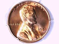 1953 D LINCOLN WHEAT CENT PCGS MINT STATE 65 RD 80621552