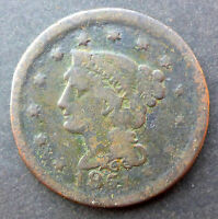 UNITED STATES 1851 BRAIDED HAIR LARGE CENT