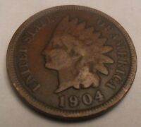 1904 INDIAN HEAD CENT / PENNY SDS
