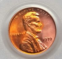1970 S SMALL DATE PCGS MS66 RED BLAZING RED PQ GEM BU LINCOLN CENT BRIGHT COLOR