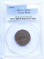 1864 TWO CENT LARGE MOTTO : PCGS EXTRA FINE 45