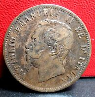 VERY NICE 1862 M 10 CENTESMI FROM ITALY KM 11.1