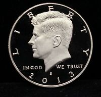 2013 PROOF KENNEDY HALF DOLLAR GEM DEEP CAMEO DCAM