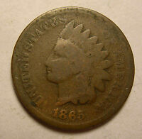 1865 INDIAN CENT MAJOR CIVIL WAR   SHIPS FREE
