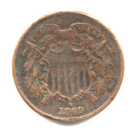 1869 TWO CENT VF