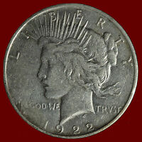 1922-D PEACE 90 SILVER DOLLAR SHIPS FREE. BUY 5 FOR $2 OFF