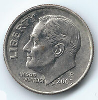2005 P 10 CENT ROOSEVELT DIME US AMERICAN COIN CIRCULATED PHILADELPFIA MINT