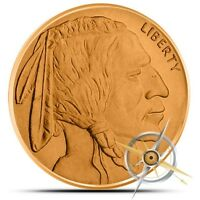 1 OZ COPPER ROUND   BUFFALO NICKEL