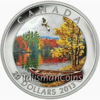 CANADA 2013 STUNNING NATURE 1 AUTUMN BLISS $20 PURE SILVER PROOF WITH COLOR