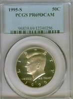 1995 S 50C PCGS PR69DCAM PROOF KENNEDY HALF DOLLAR  12340256