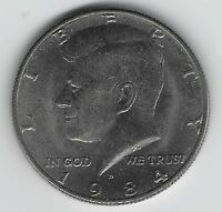1984D JOHN F. KENNEDY HALF DOLLAR CIRCULATED US COIN 50C DENVER MINT UNGRADED