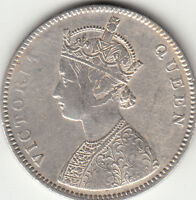 1862 BRITISH INDIA QUEEN VICTORIA ONE RUPEE SILVER COIN WITH 4 DOTS LOT DD7