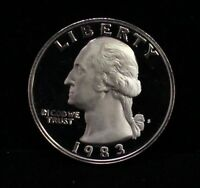 1983 PROOF WASHINGTON QUARTER GEM DEEP CAMEO DCAM