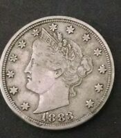 1883 5C NO CENTS LIBERTY NICKEL AU. HIGH GRADE LOOK 1