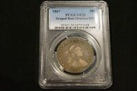 1807 PCGS CERTIFIED VF20 DRAPED BUST HALF DOLLAR 50C OVERTON 105 LETTERED EDGE