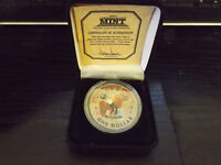 LARGE AMERICAN $1.00 PAINTED COIN IN GREAT CASE SUSAN B ANTHONY