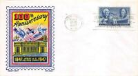 947 3C POSTAGE STAMP CENTENARY, FIRST DAY COVER CACHET [E165690]