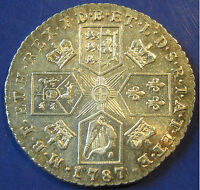 1787 NO HEARTS 1/  GEORGE III SILVER SHILLING IN A LOVELY GRADE