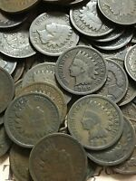 ANCIENT 1800'S TO 1899 INDIAN CENTS COLLECTION   THREE LY OLD CENTS