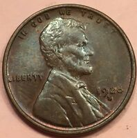 1928 S 1C BN LINCOLN CENT AU.  IN THIS CONDITION