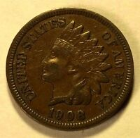 1908 S INDIAN CENT KEY DATE SHARP LIBERTY BEAUTY NICE