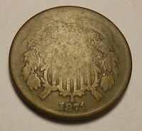 1871 TWO CENT TOUGH DATE  SHIPS FREE