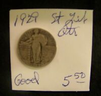 1929 STANDING LIBERTY SILVER QUARTER   GOOD