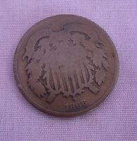 U.S. 1866 2 CENT  COIN WITH G DETAILS