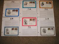 FULL SET OF FIRST DAY COVERS 6  OPERA SINGERS, CLASSICAL COMPOSERS/CONDUCTORS