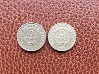 BRITISH WEST AFRICA 1939 & 1945 3 PENCE COINS