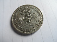 COIN GEORGE V1 GEORGE 6 PRE 1947 1939 FLORIN TWO SHILLINGS SILVER 50