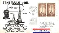1134 4C PETROLEUM INDUSTRY, FIRST DAY COVER CACHET [E168223]