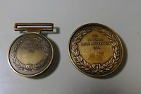 TWO BRONZE NATIONAL RIFLE ASSOCIATION 1860 RESTRIKE MEDALLIONS 1996