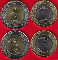 SAUDI ARABIA SET OF 2 COINS: 1   2 RIYALS 2016