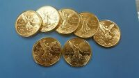 MEXICAN 50 PESOS LA MINADO GOLD PLATED WITH PURE GOLD