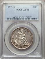 1857 O PCGS XF45 SEATED LIBERTY HALF DOLLAR   GREAT OVERALL CONDITION