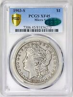 1903-S MICRO S PCGS  CAC EXTRA FINE 45 MORGAN DOLLAR VAM-2  SMALL S VARIETY TOP 100