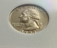 1993  UNCIRCULATED WASHINGTON 25 CENTS  COIN .VERY NICE COIN .