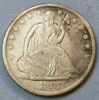 1857 O SEATED HALF DOLLAR SHARP NICE