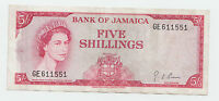 JAMAICA 5 SHILLINGS 1960 1964 VF P 51AD SIG. 4